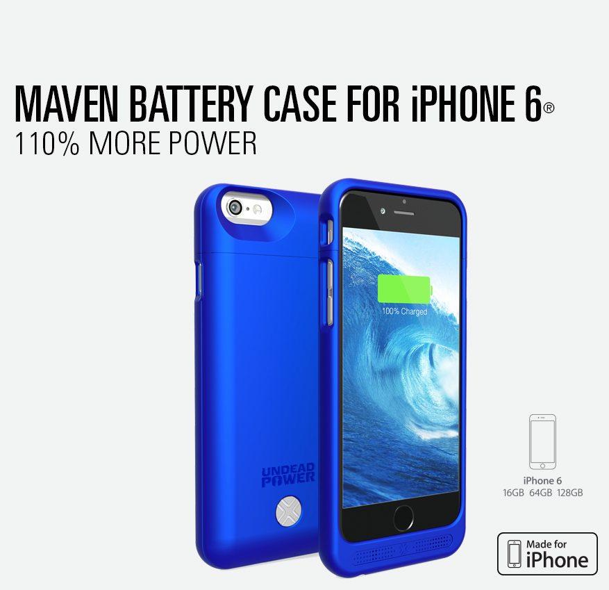 buy popular f9780 23e15 Lenmar - Maven Battery Case for iPhone 6 - Blue